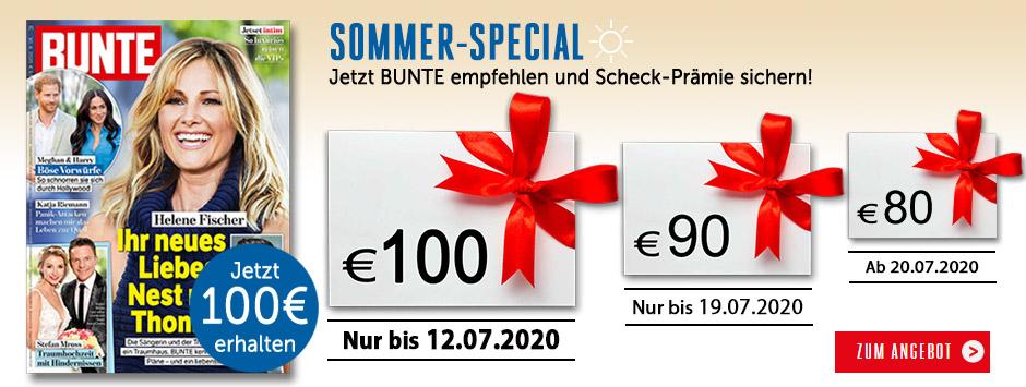 Bunte Countdown Sommer 2020
