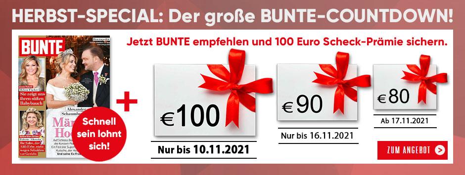 BUNTE Countdown Herbst 2021