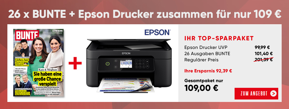 BUNTE - Halbjahres-Abo + EPSON Drucker