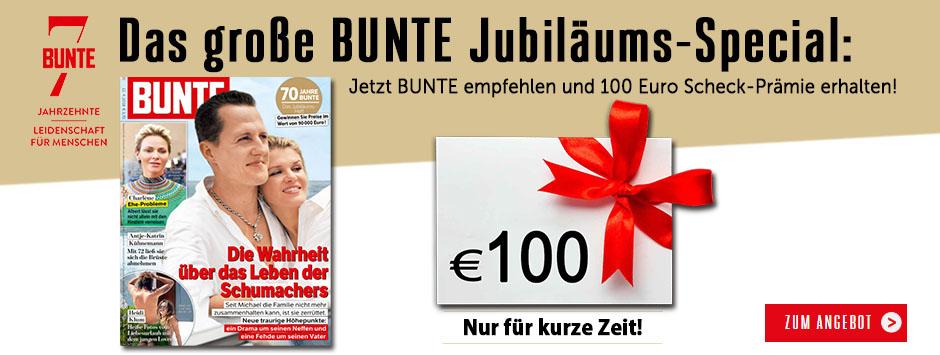 BUNTE Jubiläums-Special - 70 Jahre BUNTE - Feiern Sie mit uns!