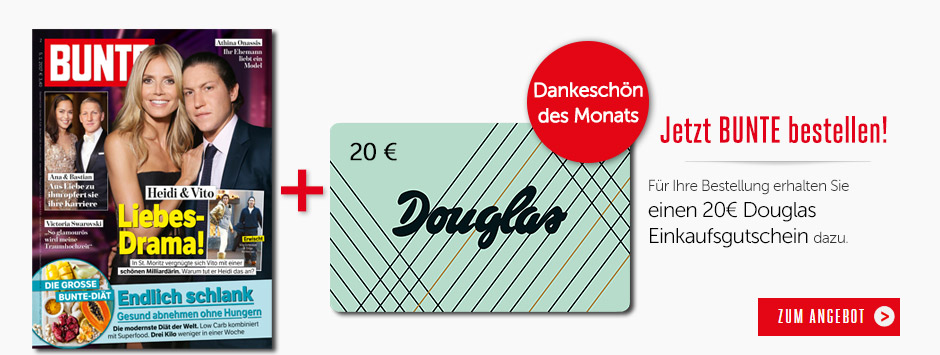 BUNTE Prämie des Monats: Douglas-Gutschein sichern!