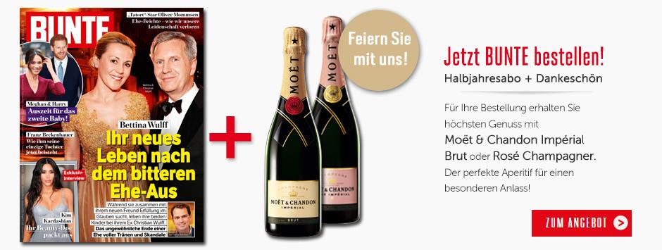 BUNTE Halbjahres-Abo - Prämie Moet & Chandon Impérial Champagner sichern!