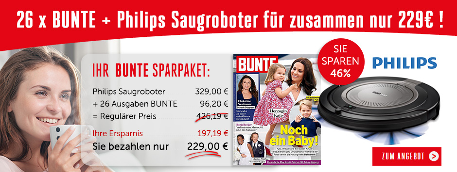 26 x Bunte + Philips Saugroboter für zusammen nur 229€!