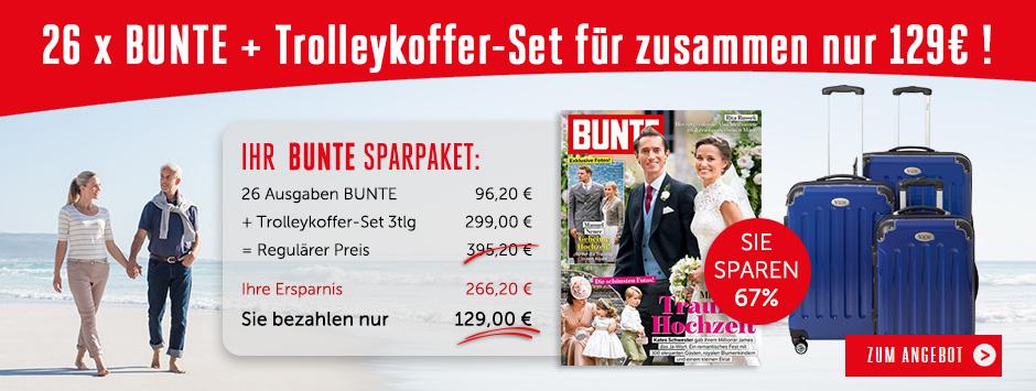 26 x BUNTE + Trolleykoffer-Set für zusammen nur 129€ !