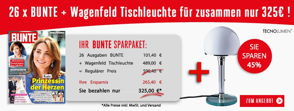 BUNTE Sparpaket Tischleuchte für 325€