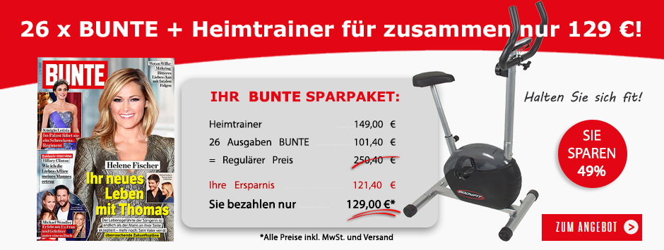 BUNTE Sparpaket Heimtrainer bestellen!