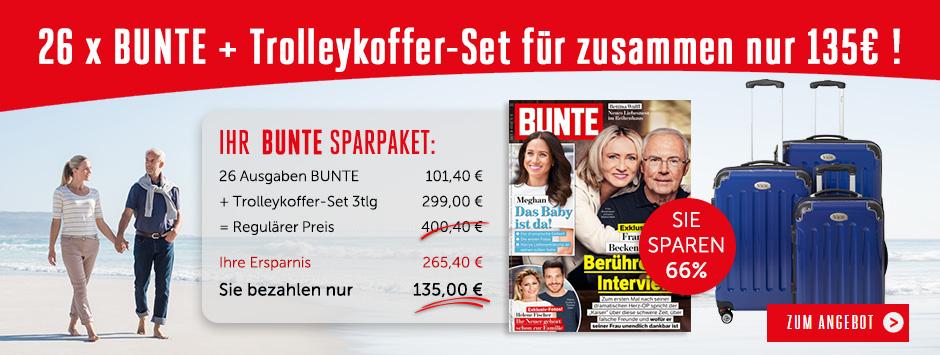 BUNTE Sparpaket Trolleykoffer-Set für 135€