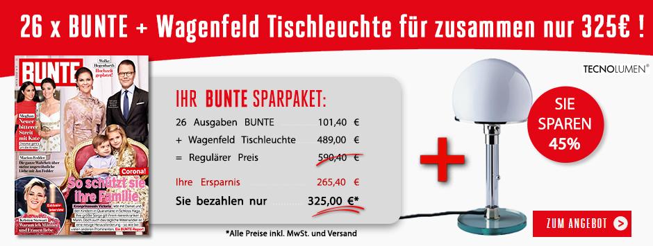 BUNTE - 26 Ausgaben + Wagenfeld Tischleuchte