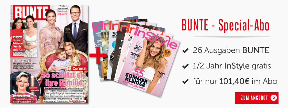BUNTE - Special Abo + 6 Monate Instyle gratis