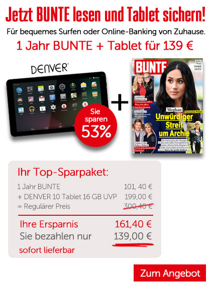 BUNTE - Sparpaket DENVER Tablet