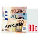 80 € Verrechnungsscheck