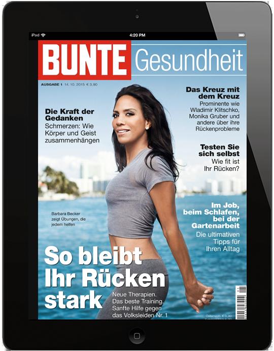 BUNTE Gesundheit Rücken 2017
